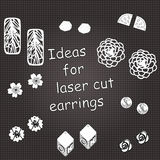 Illustration for laser cut jewelery Stock Photography