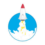 Illustration launch a space rocket Royalty Free Stock Photos