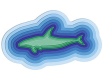 Illustration of a layered fish in the ocean. Illustration of a layered fish in the sea Stock Photography