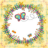 Illustration Layout Butterfly Royalty Free Stock Photos