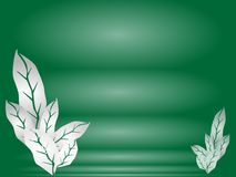 Illustration of Leaves of Green Background Template Royalty Free Stock Image