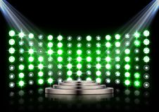 Led projection screen. Illustration of Led projection screen Royalty Free Stock Image