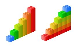 Lego graph. Illustration of Lego graph. Vector available Royalty Free Stock Image