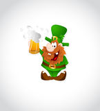 Illustration of Leprechaun with Beer Royalty Free Stock Image