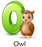 Letter O is for Owl cartoon alphabet. Illustration of Letter O is for Owl cartoon alphabet stock illustration