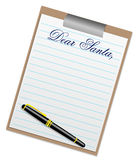 Illustration of a letter to Santa Claus Stock Images
