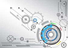 Illustration élevée de vecteur de fond d'affaires d'informatique de circuit futuriste abstrait Image stock