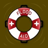 Illustration of symbol for Flood Aid. Royalty Free Stock Image