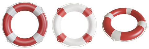 Illustration lifebuoy isolated on white background Stock Photos