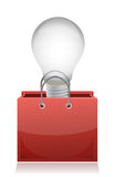 Illustration of light bulb in red bag Royalty Free Stock Photo