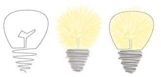 Illustration of a light bulb Royalty Free Stock Photo