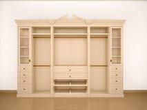Illustration of light classic cupboard wardrobe Royalty Free Stock Photo