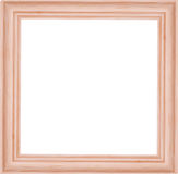Illustration with light wood frame on white Stock Photos