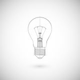 Illustration Of Lightbulb. Royalty Free Stock Photo