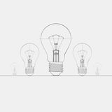 Illustration Of Lightbulb. Stock Photo