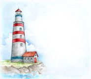 Illustration of lighthouse Stock Photography