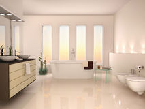 Illustration of lightweight minimalist interior of a modern b Royalty Free Stock Image