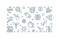 Illustration linéaire génétiquement modifiée de vecteur d'organisme illustration libre de droits