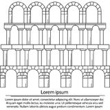 Illustration of line design arch structure Royalty Free Stock Photography