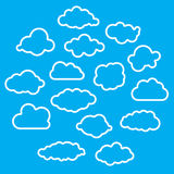 Illustration of linear clouds collection Royalty Free Stock Photos