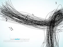 Illustration with lines and tunes. Royalty Free Stock Photos