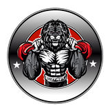 Illustration of a lion bodybuilder. Vector illustration Royalty Free Stock Image