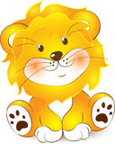 Illustration of Lion cartoon. On a white background Stock Images