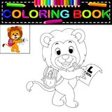 Lion coloring book. Illustration of lion coloring book Stock Image