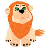 Illustration lion on white background Stock Images
