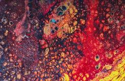 Illustration liquide abstraite liquide d'art Peinture acrylique sur le canva illustration stock