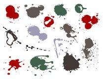 Illustration liquide de vecteur de correction de tache de tache d'encre de tache d'éclaboussure de floc de sang illustration libre de droits