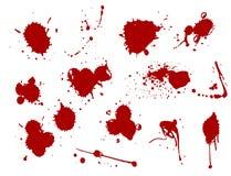 Illustration liquide de vecteur de correction de tache de tache d'encre de tache d'éclaboussure de floc de sang illustration stock