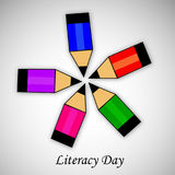 Illustration of literacy Day Background Stock Photos