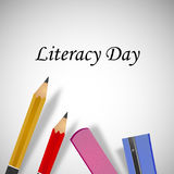 Illustration of literacy Day Background Stock Photography