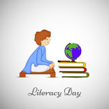 Illustration of literacy Day Background Stock Images