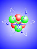 A  illustration of a lithium atom Royalty Free Stock Image