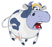 Illustration of a little cow. Cartoon Royalty Free Stock Photos