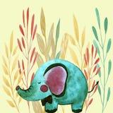 Illustration with elephant royalty free illustration