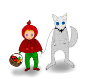 Illustration of the Little Red Riding Hood Stock Photography