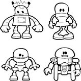 Illustration of little robots Stock Photography