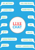Illustration of  Live chat Stock Photography