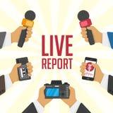 Illustration live report. Stock Photos