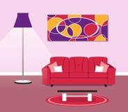 Living room modern design concept. Illustration of living room modern design concept royalty free illustration