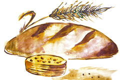 Illustration of a loaf of bread Stock Image
