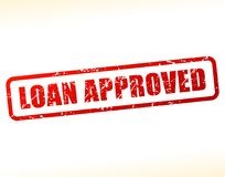 Loan approved text buffered. Illustration of loan approved text buffered on white background Royalty Free Stock Photos
