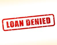 Loan denied text buffered. Illustration of loan denied text buffered on white background Royalty Free Stock Images