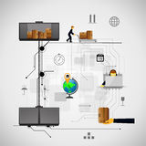 Illustration logistics safekeeping delivery shipping Stock Image