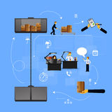 Illustration logistics safekeeping delivery shipping Stock Photography