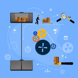 Illustration logistics safekeeping delivery shipping Stock Photos