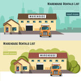 Illustration of logistics and warehouse. Royalty Free Stock Photo
